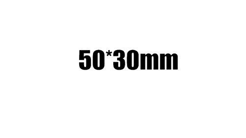 Timbro rettangolare di grandi dimensioni Timbro sigillo fotosensibile personalizzato logo personalizzato Timbro autoinchiostrante personalizzato, 50x30mm