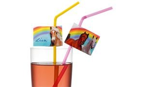 Susy tarjeta 11348562 - pajitas de beber, la belleza por el campo de nombre, color, clasificado, 10 piezas