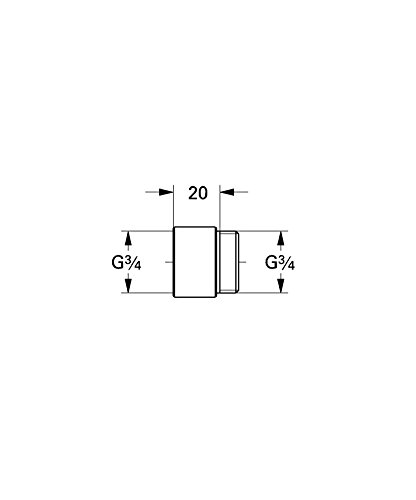 Grohe Verlängerung DN 20, mm, 0713000M - 2