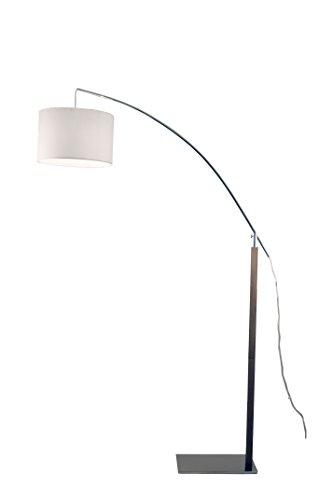 Aluminor RAINBOW 7 CH lampadaire arc E27 Métal/Bois, Gris