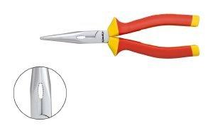 klauke-textron-pince-a-becs-demi-rond-coudes-isolee-1000-v-205-mm