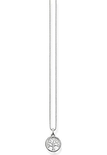 THOMAS SABO Damen-Kette mit Anhänger 925 Silber Zirkonia weiß Brillantschliff 42 cm - SCKE150145