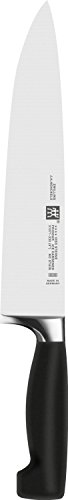 Zwilling 31071-231-0 Vier Sterne Kochmesser, Rostfreier Spezialstahl, Sonderschmelze, Kunststoff, 230 mm, schwarz