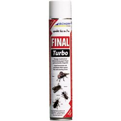 Schopf 301198 Final Turbo Ungezieferspray, 750 ml Maxipack für schwer erreichbare Stellen -