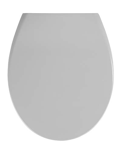 WENKO 18394100 Premium WC-Sitz Ottana, Absenkautomatik, rostfreie Fix-Clip Hygiene Edelstahlbefestigung, 37,5 x 44,5 cm, weiß