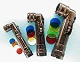 US Army Style Winkelstabtaschenlampe Winkelstablampe mit 4 auswechselbaren Farbfiltern Klein, Medium oder Groß in verschiedenen Farben (Schwarz, Klein)