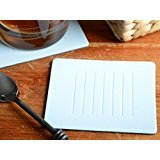 Set of 8 Pastel Blue Embossed Leatherboard Coasters Bonded Leather Made In Uk -