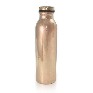 dungri Indien Craft® 600ml/20.28oz–Traveller 's 100% reines Kupfer Wasser Flasche für ayurvedische Gesundheit Vorteile   Gelenk frei, auslaufsicher–stilvoll Wasser Thermos Flasche