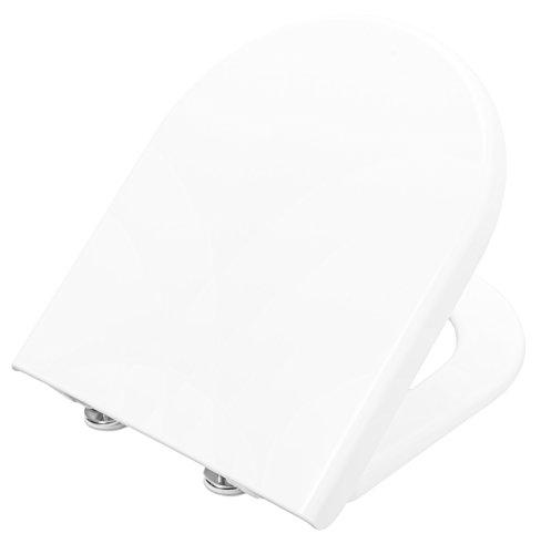 Toto Germany WC-Sitz Subline Deckel mit Edelstahl-Exzenterscharnier weiß, 795370702