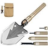 WINHI Military Folding Shovel with Carrying Pouch, Tactical Army Entrenching Tool, Trench Shovel