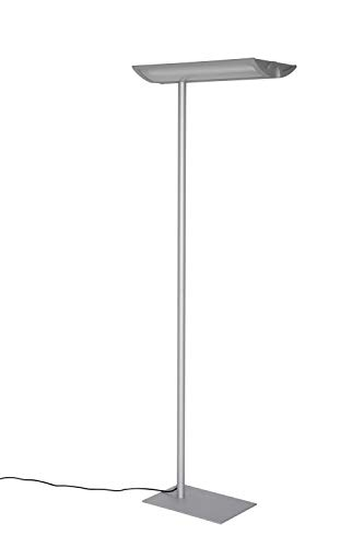 Maul Arbeitsplatz Standleuchte MAULnaos, Höhe 190 cm, 2x 55 Watt, Silber, 2x 4500 Lumen, 8251495