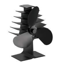 Ventilador de chimenea ECZO con 3 aspas de calor para leña, quemador...