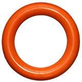 PlayfulSpirit Ring aus Naturkautschuk Welpen und ausgewachsene Hunde, Größe L, Orange