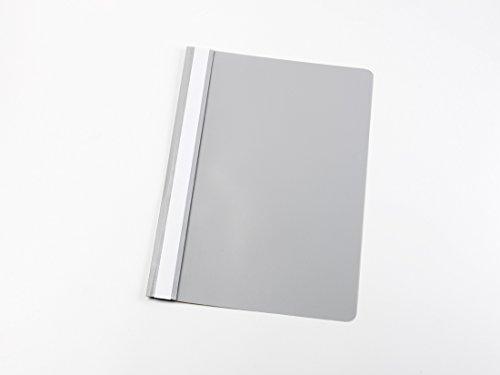 10 Schnellhefter DIN A4 / PP / Farbe: grau