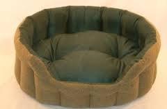 Teal Tartan Tweed, Superior Softy Dog Bed, with Polar Fleece Lining (22inch)