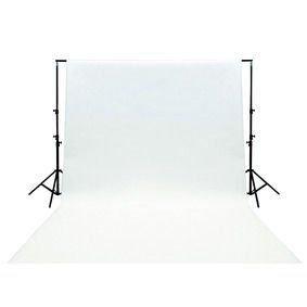 Ex-Pro 3x 6m hochwertige Baumwolle Fotografien Hintergrund mit Stab Pocket–weiß (Hintergrund Kit)