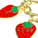 great-christmas-or-budget-gift-idea-two-strawberry-key-rings-charm-jewellery-one-rhodium-plated-key-