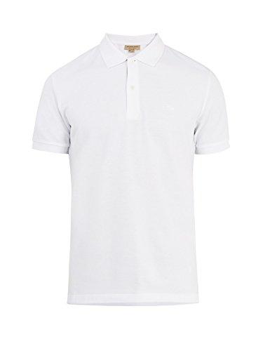 BURBERRY Herren Poloshirt Gr. Groß, weiß