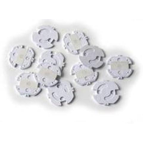 Protectores de enchufes de Reer (adhesivo) en plástico blanco 5 piezas