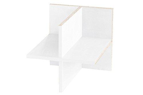 Ikea Kallax Expedit Regal Einsatz ganze Fachlänge Regalkreuz Fach Fachteiler mit Rückwand Aufbewahrung Handtuchregal Physiotherapie Wolle lagern Regaleinsatz 33,5 x 33,5 x 38 cm Farbe weiss