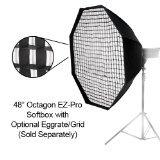 Fotodiox EZ-Pro-48-Oct-Ca Profi Studio-Lösungen EZ Pro 48 Octagon Softbox mit Weiche Diffusor/Speedring Anschluss für Canon Flash Speedlite 600EX-RT