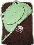 Frenchie Mini Couture - Asciugamano con cappuccio, assorbente, motivo ranocchia, taglia XL, 100 x 75 cm