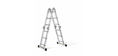 Mehrzweckleiter Gelenk-Leiter 4 x 3 Sprossen - Gesamtlänge: ca. 3,30 m - Maximale Tragkraft: ca. 150 kg - Vielseitig einsetzbar