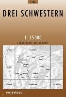 Swisstopo 1 : 25 000 Drei Schwestern