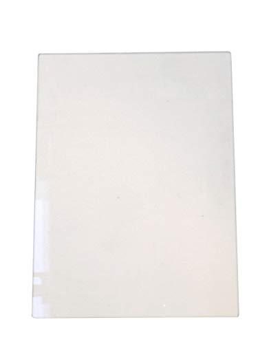 Sichtscheibe für Fireplace Paris Kaminöfen - Passendes Kaminofen Ersatzteil, Glasscheibe, Kaminglas, flach, Maße: 345 x 465 x 4 mm
