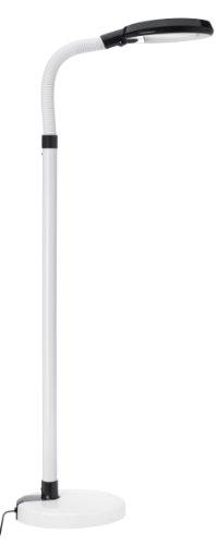 Daylight 07986 Tageslicht-Standleuchte | Verbessert die Stimmung | Flexibler Lampenhals | 158 cm | 24 Watt | Energiesparend - Energieeffizienz A | Weiß-Schwarz