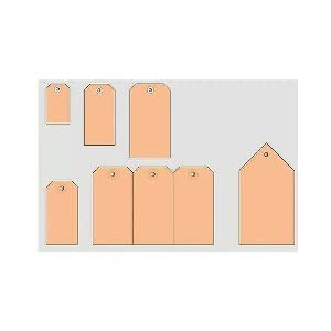 Herma 6045 Tag 48 x 95 mm with Reinforced Holes 1000 Tags Brown