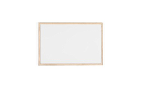 Bi-Office Budget - Pizarra blanca marco madera, 60