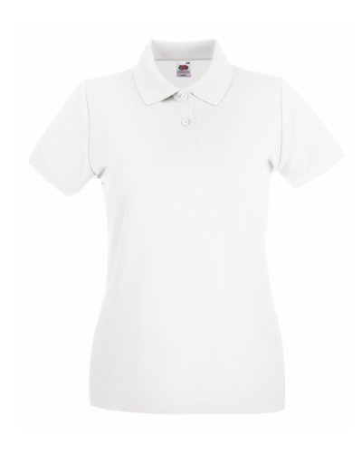 Fruit Of The Loom Lady-Fit Premium Polo Shirt M,Weiß
