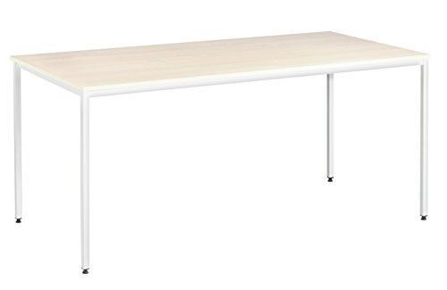 Eliza Tinsley Furniture Mod/1800/WM 1800x 800mm Ahorn Versa Tisch mit Rahmen weiß -