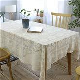 Rustique Floral Crochet Nappe Rectangle Beige Coton Dentelle Couverture De Table De Bureau pour La Décoration Intérieure (taille : 140 * 160cm)
