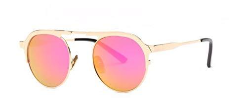 ZJMIYJ Sonnenbrillen Italien Designer Sonnenbrille Frauen Super Light Flex Metall Spiegel Oval Sonnenbrillen für Lady Purple