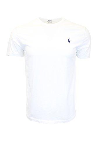 Polo-pony-shirt (Polo Ralph Lauren - Herren T-Shirt Klassische Passform Kleines Pony Rundhals Baumwolle Verschiedene Farben - M, Weiß)