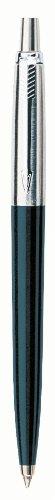 Parker S0705660 Penna a sfera Linea Jotter Premium, pulsante, Nero, nero (black chrome trim)