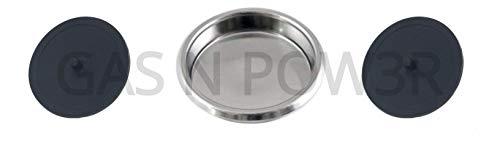 Disco ciego Puly Caff de 58 mm para máquinas de café expreso comerciales con disco de goma de 49 mm x1 Blanking Disc +2 Rubber Blanking Discs