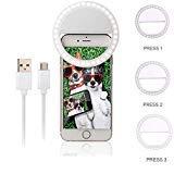 VPlus Universal USB Blitzlicht 3 Ebenen Selfie 36 LED Tragbare Handy Selfie Leuchtring Clip Lampe Für Alle Smart Handys