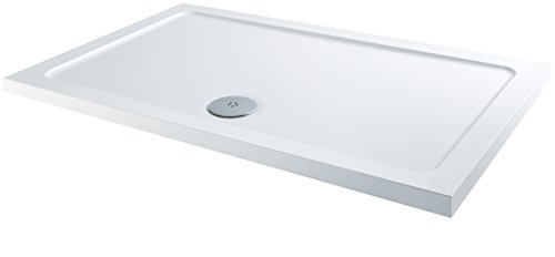 MX Group XFF 1200 x 800 mm Rectangle DucStone Low Profile Flat Top Shower Tray - White