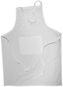 Rayher Hobby 3829000 Baumwoll-Schürze, mit Tasche, zum Binden, Latzschürze, Malkittel zum Bemalen mit Stoffmalfarbe, Färben, Bedrucken, Besticken, Gestalten, 70 x 95 cm, weiß