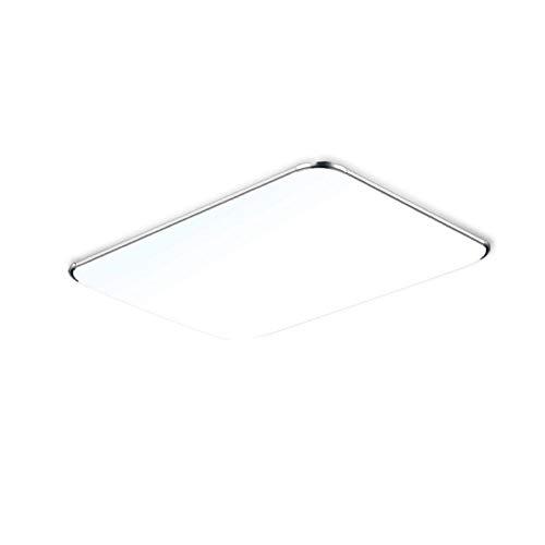 128W Kaltweiß LED Deckenleuchte Modern Deckenlampe Ultraslim Schlafzimmer Küche Flur Wohnzimmer Lampe Wandleuchte Energie Sparen Licht Silber -