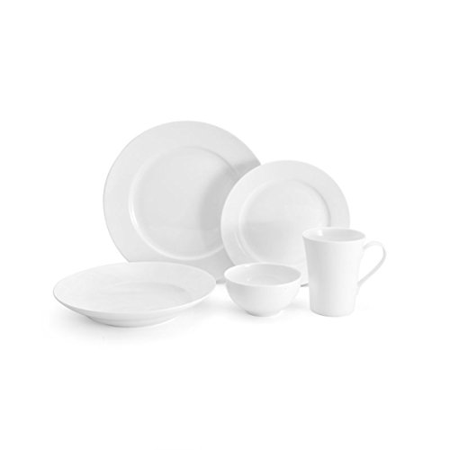 Mikasa White Dish (Mikasa Lucerne White 40-Piece Dinnerware Set, Service for 8)