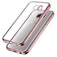 UBEGOOD Samsung Galaxy S7 Hülle Kratzfeste Plating TPU Case für Samsung Galaxy S7 Case Schutzhülle Silikon Case Durchsichtig HandyHülle für Samsung Galaxy S7 Bumper Case (Rose)