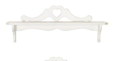 Mensola con ripiano in legno con cuore centrale grande disponibile in diverse rifiniture L'ARTE DI NACCHI 4994/2SH