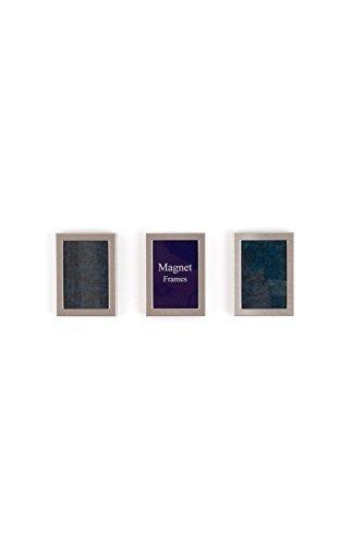 Weddingstar 8056-77 Magnet Zur-ck Mini-Bilderrahmen-Brushed Silber-3er-Pack