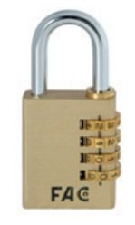 Fac seguridad - Candado combinación 40mm laton (en blister)