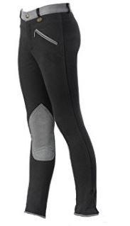 USG Damen-Reithose Emilia mit 3/4 Bi-elastischer Patch/Elastic Bein unten, schwarz (72, schwarz)