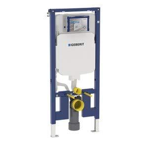 Geberit–Telaio Geberit Duofix per WC sospeso, 114cm, con scarico incasso Sigma 8cm, gomito di scarico in PVC, 111.791.00.1)